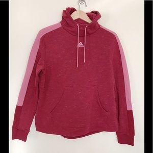Adidas Pink Space Dye Hoodie Sweatshirt Top XL